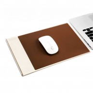 Aluminium Leather Mouse Pad