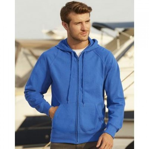Fruit of The Loom Baseball Sweatshirt Jacket Men/'s Zipped Lightweight Raglan top