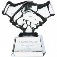 11.5cm Optical Crystal Handshake Award.jpg