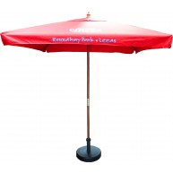 2m Square Wooden parasol Umbrella