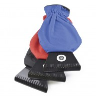 Glazier Plastic Ice Scraper with Fleece Lined Glove