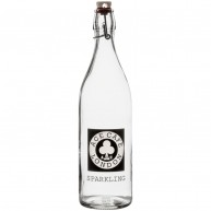 1 Litre Round White Cap Swing Top Bottle