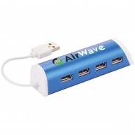 Aluminium 4-Ports USB Hub and Phone Stand