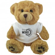 "10"" Dexter Bear and White T Shirt"