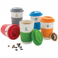 Eco Friendly Reusable Bamboo Fibre Coffee Cup