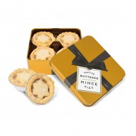 Small Gold Square Tin - Mince Pies