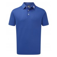 FootJoy Stretch Pique Solid Polo Shirt (Athletic Fit) Blue Marlin