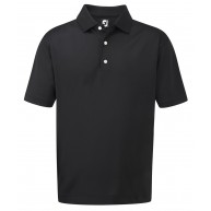 FootJoy Stretch Pique Solid Polo Shirt Black
