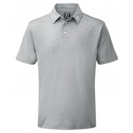 FootJoy Stretch Pique Solid Polo Shirt (Athletic Fit) Heather Grey