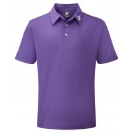 FootJoy Stretch Pique Solid Polo Shirt (Athletic Fit) Purple