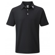 FootJoy Stretch Pique Solid Polo Shirt (Athletic Fit) Black