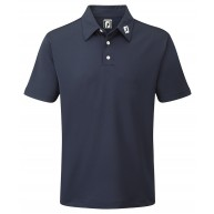 FootJoy Stretch Pique Solid Polo Shirt (Athletic Fit) Navy