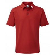 FootJoy Stretch Pique Solid Polo Shirt (Athletic Fit) Red