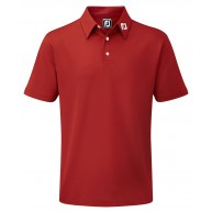 FootJoy Junior Stretch Pique Solid Polo Red