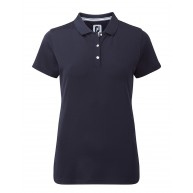 FootJoy Ladies Stretch Pique Solid Polo Navy