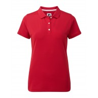 FootJoy Ladies Stretch Pique Solid Polo Red
