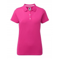 FootJoy Ladies Stretch Pique Solid Polo Berry