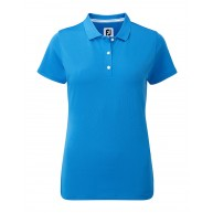 FootJoy Ladies Stretch Pique Solid Polo Cobalt