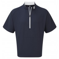 FootJoy Short Sleeve Sport Windshirt Navy with White
