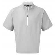 FootJoy Short Sleeve Sport Windshirt Heather Grey with White
