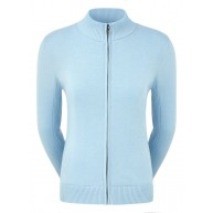 FootJoy Ladies Full-Zip Lined Wool Blend Pullover Sky Blue