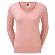 FootJoy Ladies Wool Blend V-Neck Pullover Pink