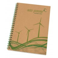 Enviro-Smart - A5 Natural Cover Wiro-Bound Pad.