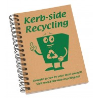Enviro-Smart - A6 Natural Cover Wiro-Bound Pad.