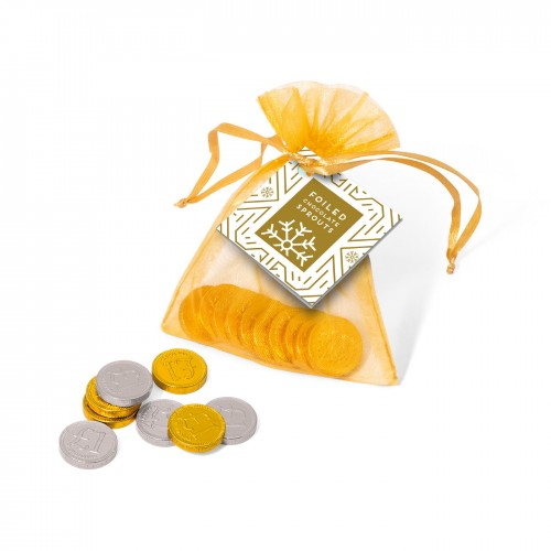 Organza Bag - Chocolate Coins